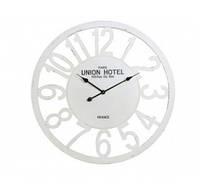 Часы UNIAN HOTEL диам. 80 см, белый под старину, дерево