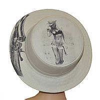 Шляпа Канотье фотопринт ковбойка