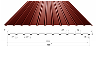 Профнастил в полимерном покрытии С-10, 0,4мм
