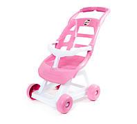 Детская коляска для кукол, Орион бело-розовая (147)