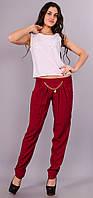 Мирра. Молодежные брюки женские большого размера. Бордо.(Р)., фото 1