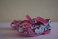 Детские нарядные туфли на девочку розовые Y.Top 26 размер. Детская обувь весна-осень, нарядная обувь