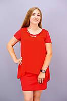 Леди. Платья супер батал. Красный.(Р)., фото 1