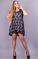Джем. Платье-туника большого размера. Белый., фото 1