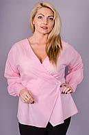 Шарм. Женская блуза больших размеров. Розовый.(Р)., фото 1