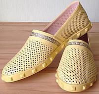 Versace Эспадрильи!! перфорация мокасины балетки женские туфли кожа