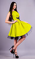 Дина. Нарядное платье. Желтый.(Р)., фото 1