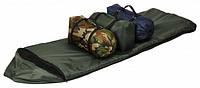 Спальный мешок Champion Зима с капюшоном (спальник с флисом) 200х150см: хаки, -15C