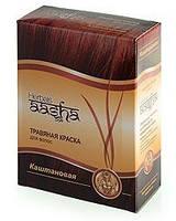 Травяная краска для волос на основе индийской хны Каштан, 60г