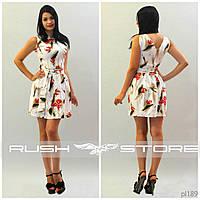 Красивое летнее платье с молнией на спине
