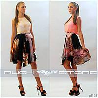 Комбинированное платье из шифона