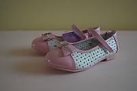 Детские белые нарядные туфли на девочку Том.М 27 размер. Детская обувь весна-осень, нарядная обувь