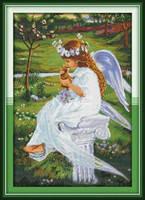 """Набор для вышивки крестом  """"Прекрасный ангел (1) """""""