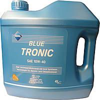 Автомобильное моторное полусинтетическое масло Aral BlueTronic 10W40 4L