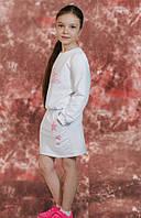 Модный детский костюм кофта и юбка с принтом