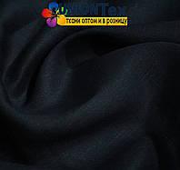 Лен белорусский костюмный темно-синий