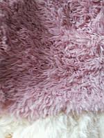 Покрывало меховое с длинным ворсом розовое