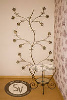 "Подставка для цветов ""Дерево настенное на 18 колец /чаш"""