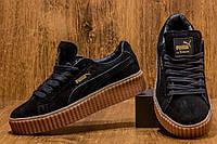 Кроссовки (кеды) женские PUMA Rihanna Suede Creeper Черные Замша