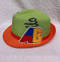 Стильная женская шляпа плетение с буквами челентанка