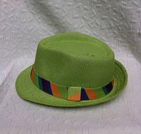 Стильная женская шляпа плетение с лентой челентанка