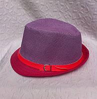 Стильная женская шляпа плетение с пояском челентанка