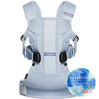 Рюкзак-кенгуру BabyBjorn Carrier One Ice - blue fish,mesh