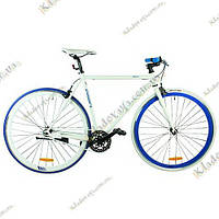 "Велосипед Profi FIX 26C70028"" Fixed Gear Bike, Фикс и Сингл спид (Бело-голубой)"