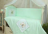 Защитные бортики в детскую кроватку Мишка
