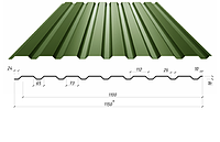 Профнастил в полимерном покрытии С-21,0,45мм