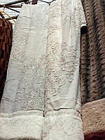 Двухстороннее меховое покрывало с узором