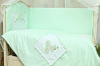 Бортики в кроватку для новорожденных Зайчик