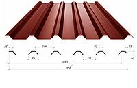 Профнастил в полимерном покрытии Н-33, 0,4мм