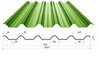 Профнастил в полимерном покрытии Н-44, 0,4мм