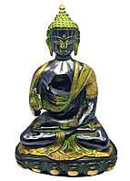Будда В Позе Лотоса Бронзовый (14.5см)