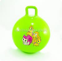 Мяч для фитнеса детский с ручкой «Герои мультфильмов» (45 см, 2 вида)