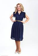 Платье из шифона на вискозной основе