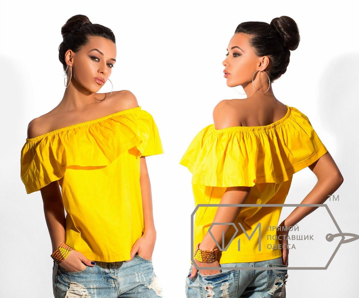 Блуза с открытыми плечами и воланом своими руками Дизайнерская одежда 92
