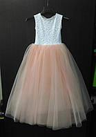 Детское платье-принцесса (из гипюра и фатина)