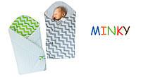 "Конверт двусторонний для новорожденных Minky  ""Duetbaby"""