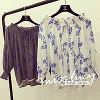 Летняя кофточка-блуза на резинке