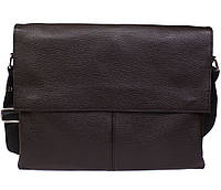 Кожаная сумка для документов А4 через плечо 26х33х5см.