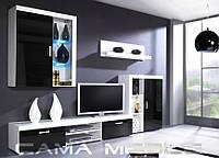 Гостиная Samba A / Самба А Cama Meble белый / черный глянец
