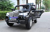 Детский двухместный электромобиль BMW TY8088B, 4 мотора, мягкое сиденье, надувные колеса, плавный старт, пульт