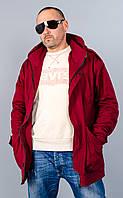 Остин. Куртка парка мужская. Бордо.