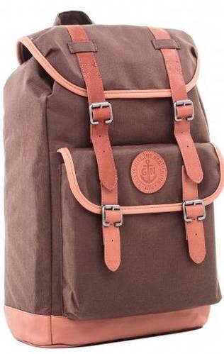 """Классический рюкзак с отделением для ноутбука 20л GIN """"ВЕСПЕР"""", brown (коричневый)"""