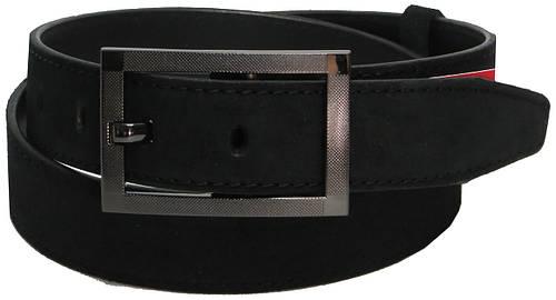 Джинсовый замшевый ремень Skipper 5637 чёрный ДхШ: 115х4 см.