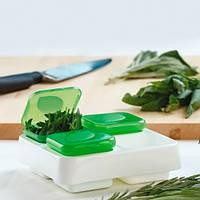 Контейнер Snips для заморозки зелени и соуса, зеленый