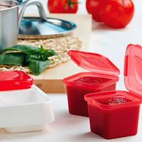 Контейнер Snips для заморозки зелени и соуса, красный