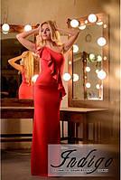 """Платье женское красное вечернее из дайвинга """"Илона"""""""